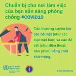 Các biện pháp phòng, chống Covid-19 tại nơi làm việc theo khuyến cáo WHO